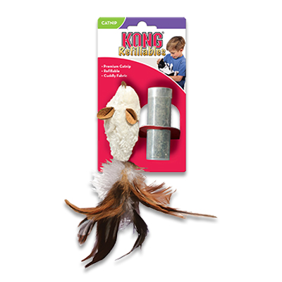 Kong Cat Refillable Catnip - Feather Mouse