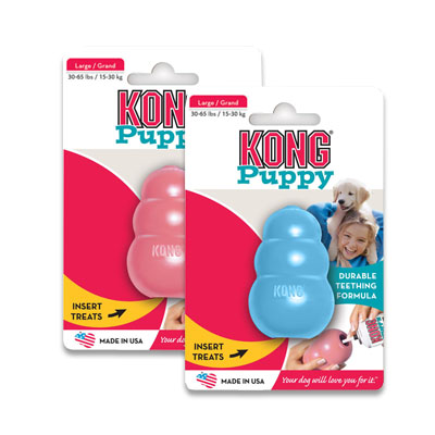 Kong Puppy - Large (assorti roze of blauw) | Petcure.nl