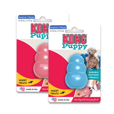 Kong Puppy - Medium (assorti roze of blauw) | Petcure.nl