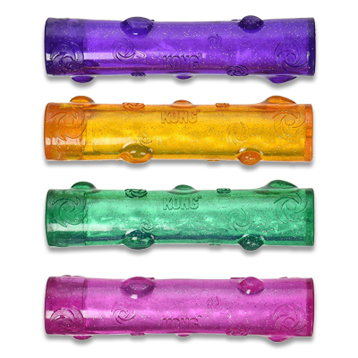 Kong Squeezz Crackle Stick - Large (assorti geleverd)