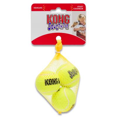 Kong AirDog Squeakair Ball - Small (3 Stuks) | Petcure.nl