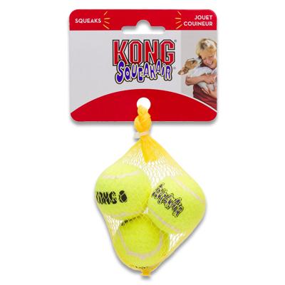 Kong AirDog Squeakair Ball - X Small (3 Stuks) | Petcure.nl