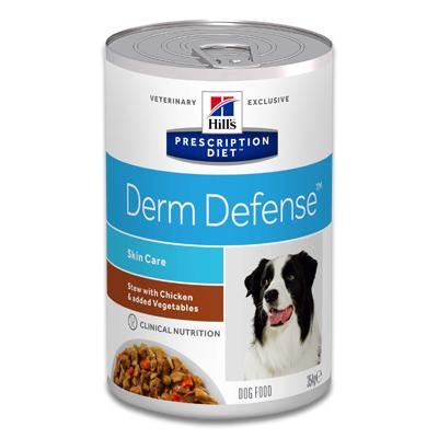 Hill's Prescription Diet Derm Defense Canine Ragout mit Huhn - 12 x 354 g