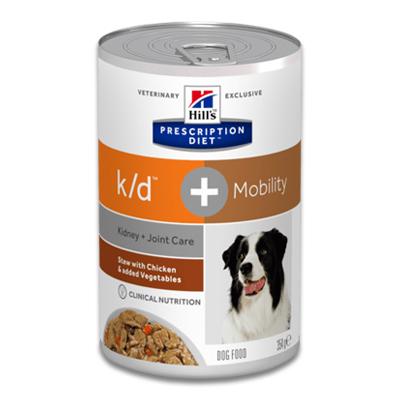 Hill's Prescription Diet k/d + Mobility Canine Ragout mit Huhn - 12 x 354 g