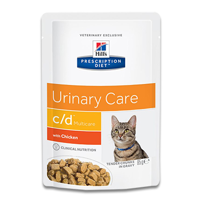 Hill's Prescription Diet Feline c/d (Huhn)  - 12 x 85 g Pouch