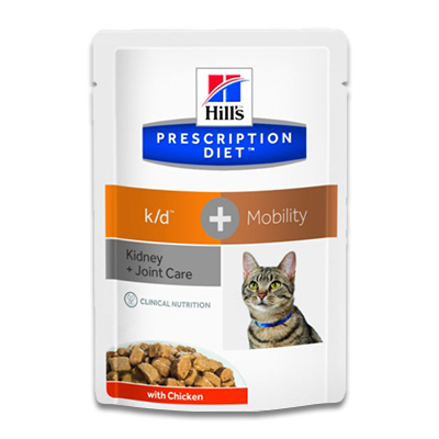 Hill's Feline k/d + Mobility (Huhn) - 4 x 12 x 85 g Pouch