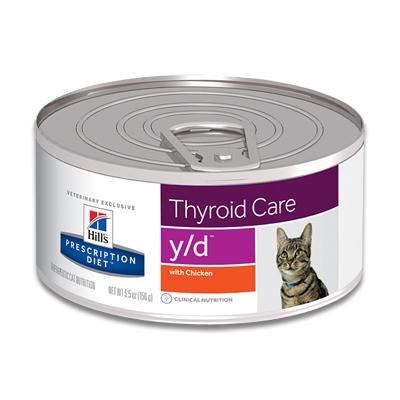Hill's Prescription Diet Feline y/d (Huhn) - 24 x 156 g Dosen