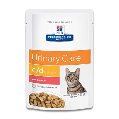 Hill's Prescription Diet Feline c/d (Salmon) - 4 x 12 x 85 g Pouch