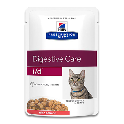 Hill's Prescription Diet Feline i/d (Zalm) - 4 x 12 x 85 g Pouch | Petcure.nl