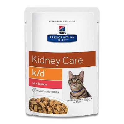Hill's Feline k/d Kidney Care (Lachs) - 4 x 12 x 85g Pouch