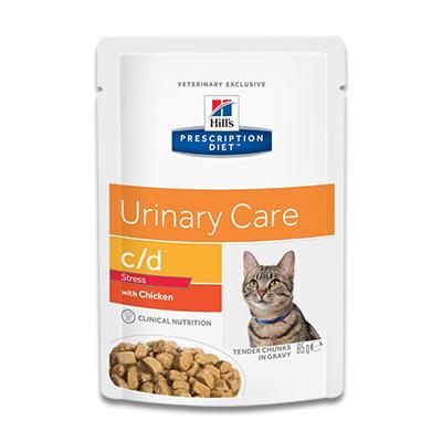 Hill's Prescription Diet Feline c/d Urinary Stress (Kip) - 4 x 12 x 85g