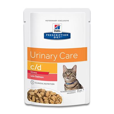 Hill's Prescription Diet Feline c/d Urinary Stress (Zalm) - 4 x 12 x 85g