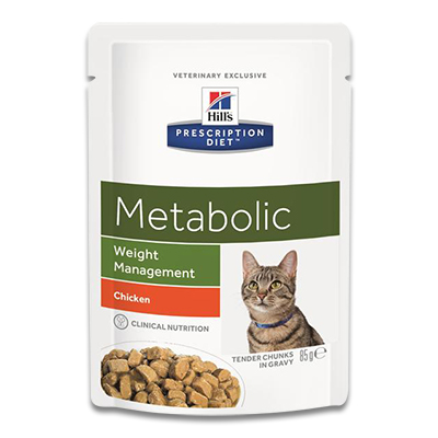 Hill's Prescription Diet Feline Metabolic -  4 x 12 x 85 g Pouch