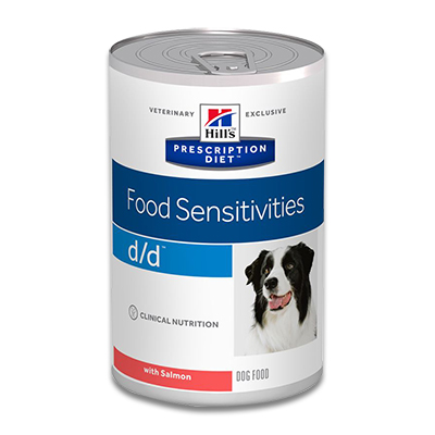 Hill's Prescription Diet Canine d/d (Lachs) - 12 x 370g Dosen