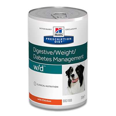 Hill's Prescription Diet Canine w/d - 12 x 370g Blik