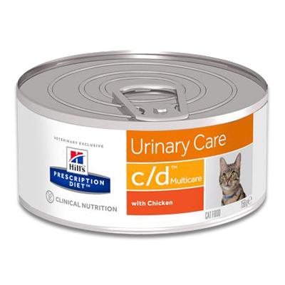 Hill's Prescription Diet Feline c/d - 24 x 156 g (Chicken) Tins