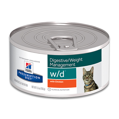 Hill's Prescription Diet Feline w/d (Huhn) - 24 x 156 g Dosen
