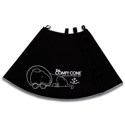 Comfy Cone S (Extra Long) - Zwart | Petcure.nl