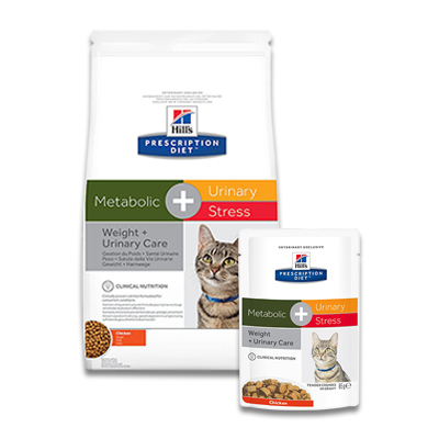 Hill's Prescription Diet Feline Metabolic+Urinary Stress | Petcure.nl