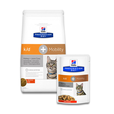 Hill's Prescription Diet Feline k/d + Mobility (j/d) | Petcure.nl