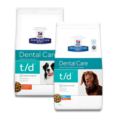 Hill's Prescription Diet Canine t/d (Mini) Dental Care | Petcure.nl
