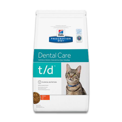Hill's Prescription Diet Feline t/d Dental Care | Petcure.nl