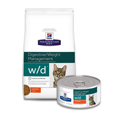 Hill's Prescription Diet Feline w/d Digestive/Weight Management | Petcure.nl
