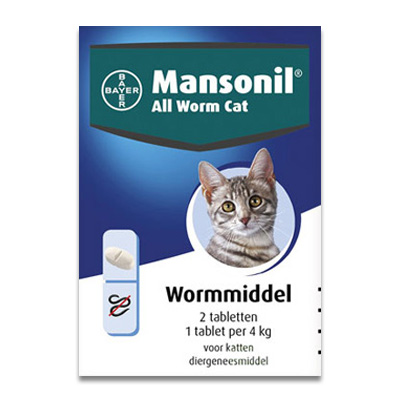 Mansonil All Worm Cat | Petcure.nl