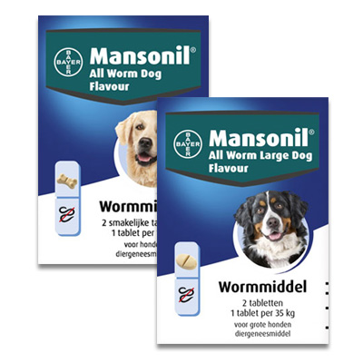 Mansonil All Worm (Large) Dog