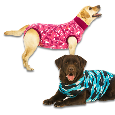 Recovery Suit Hond - Camouflage | Petcure.nl