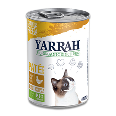 Yarrah Organic Paté with Chicken, Spirulina and Seaweed - Cat