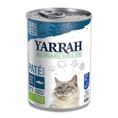 Yarrah Organic Cat Food pâté with Fish, Seaweed and Spirulina