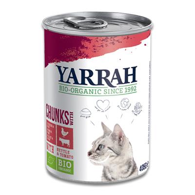 Yarrah Bio Chunks In Soße Hühn, Rind mit Brennnessel & Tomate - Katze