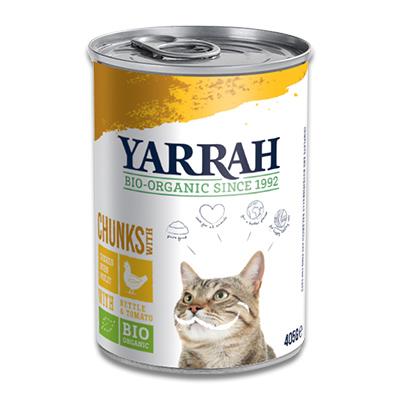 Yarrah Bio Chunks In Soße Hühn mit Brennnessel & Tomate - Katze