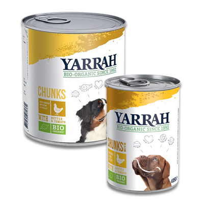 Yarrah Bio Chunks In Soße Hühn mit Brennnessel & Tomate (Hund)