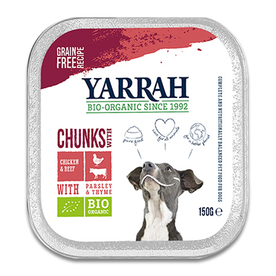 Yarrah Chunks in Saus Kip, Rund met Peterselie en Tijm (Hond)
