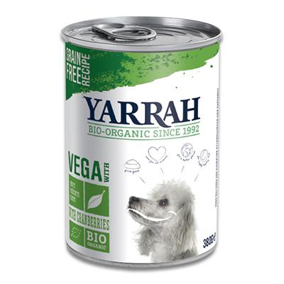 Yarrah Vega Chunks met soja/cranberries - Hond