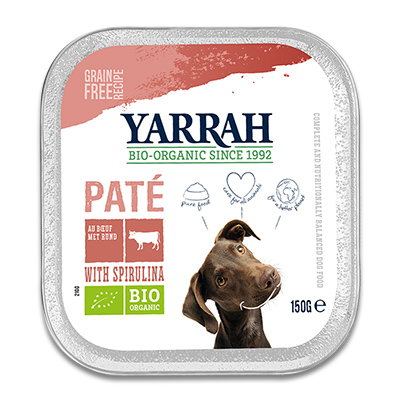 Yarrah Organic Paté with Beef, Chicken and Spirulina - Dog