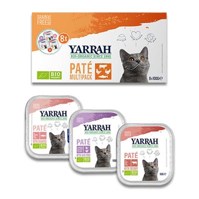 Yarrah Biologische Pastete Multi Pack - Katze (3 Verschiedene Sorten)