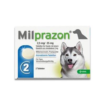 Milprazon (Milbemycine) Grote Hond (12,5 Mg) - 2 Tabletten | Petcure.nl