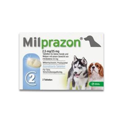 Milprazon (Milbemycine) Pup/Kleine Hond (2,5 Mg) - 2 Tabletten | Petcure.nl