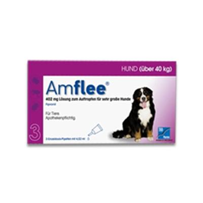 Amflee Spot-on Hund (Ueber 40kg) - 3 Pipetten