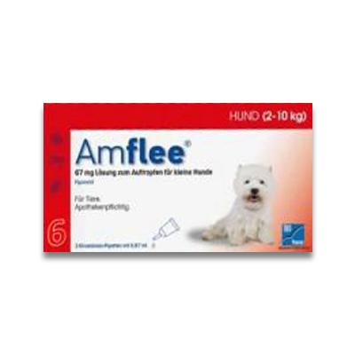 Amflee Spot-on Hund (2-10kg) - 6 Pipetten