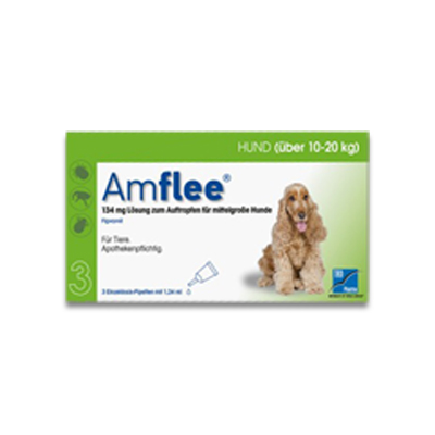 Amflee Spot-on Hund (10-20kg) - 3 Pipetten