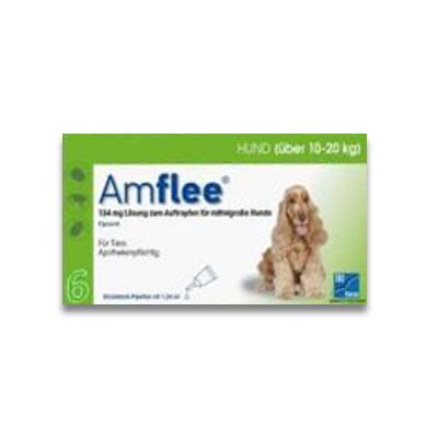 Amflee Spot-on Hund (10-20kg) - 6 Pipetten