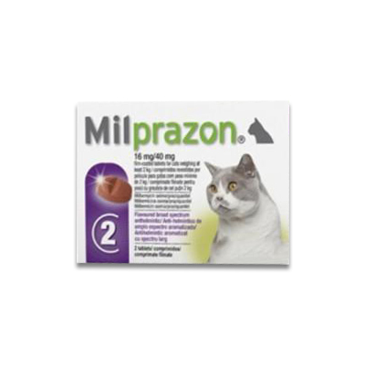 Milprazon Grosse Katze (16 Mg) - 2 Tabletten