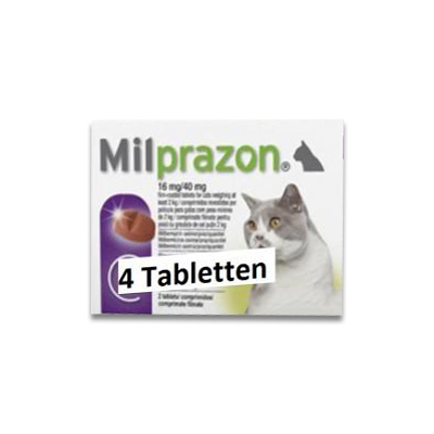 Milprazon Grosse Katze (16 Mg) - 4 Tabletten