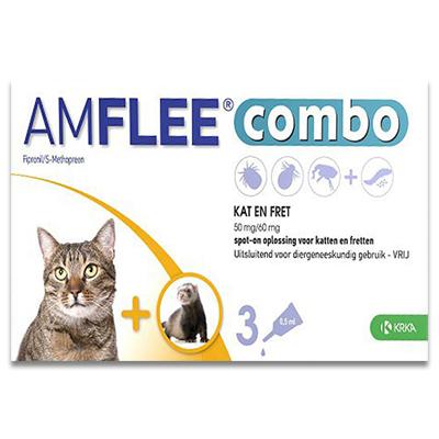 Amflee Combo Kat - 3 Pipetten | Petcure.nl