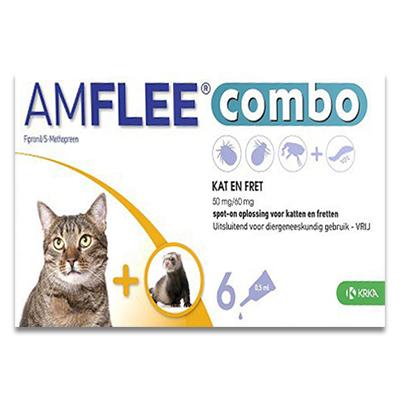 Amflee Combo Kat - 6 Pipetten | Petcure.nl