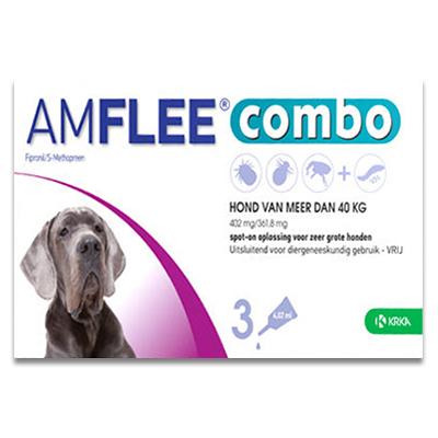 Amflee Combo Hond XL ( boven 40 kg ) - 3 Pipetten | Petcure.nl